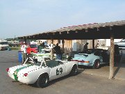 Scrutineering bay at Summit Point