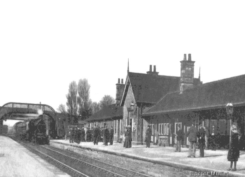 Millom Railway Station about 1905 showing a Furness Railway Company ...