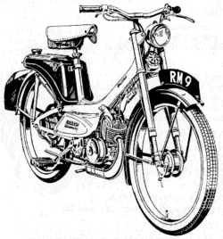 raleigh mopeds a spotter s guide 1967 Honda 50 Mini Trail drawing of raleigh rm9
