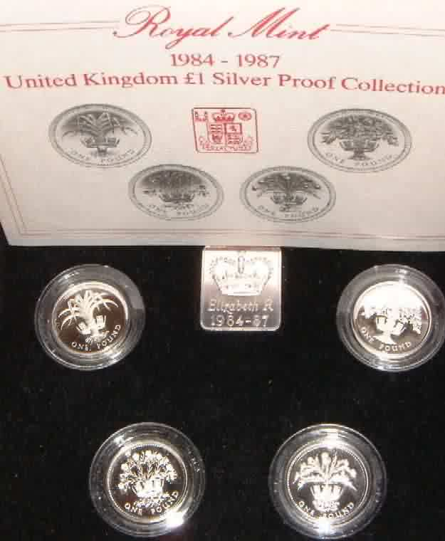 four gb 1 pound coins 1984
